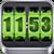3D Rolling Clock widgets GREEN app for free