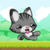 Little cat run and jump icon