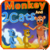 Monkey and Cat kids story icon