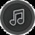 Music Player Black icon
