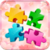 Big puzzles flowers icon