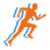 run walk bike meter icon