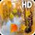 Autumn birch grove icon
