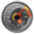 Speedometer- speak and compass icon