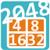 2048 math puzzle game icon