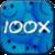 Flat jokes 100x icon