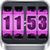 3D Rolling Clock widgets PINK app for free
