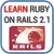 Learn Ruby on Rails 2 app for free