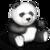 Panda skipping games icon