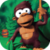 Monkey jumping icon