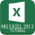 MS Excel 2013 Tutorial app for free