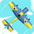 Vintage plane fighting icon