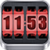3D Rolling Clock Widgets RED icon