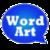 WordArt Chat Sticker M Free icon