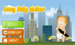 Funny Baby Skater screenshot 1/3