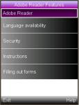 Adobe Reader Features screenshot 1/1