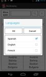 Dictionary EN-FR EN-ES screenshot 2/3