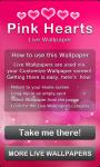 Pink Hearts Live Wallpaper Free screenshot 5/6