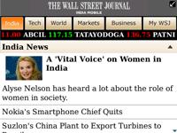 WSJ India Mobile Application screenshot 1/1