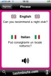 lastminute.com Talking Italian Phrasebook screenshot 1/1