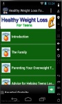 Healthy Weight Loss For Teens screenshot 1/3