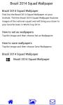 Brazil 2014 Squad Wallpaper screenshot 2/3
