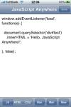 JavaScript Anywhere screenshot 1/1