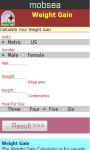 Weight Gain Calculator v-1 screenshot 2/3