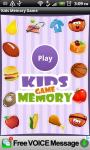 Free Kids Memory Game screenshot 1/6