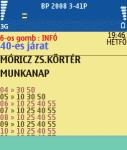BKV menetrend screenshot 1/1
