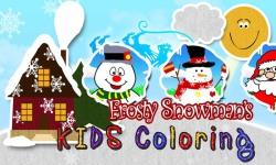 Snowmans xmas Coloring Book HD screenshot 1/3