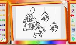 Snowmans xmas Coloring Book HD screenshot 2/3