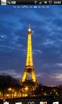 Eiffel Tower Night live Wallpaper screenshot 1/6