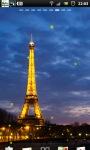 Eiffel Tower Night live Wallpaper screenshot 2/6