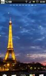 Eiffel Tower Night live Wallpaper screenshot 3/6