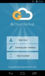 GCloud Backup screenshot 1/6