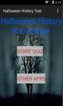 Halloween History test screenshot 1/6