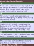 101 Boredom Buster Ideas screenshot 2/2