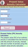 Present Value Annuity Calculator screenshot 2/3