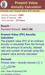 Present Value Annuity Calculator screenshot 3/3