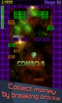 Brick Breaker 3D Glow Arkanoid Breakout screenshot 3/6