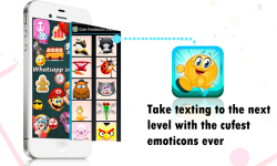 Cute Emoticons Sticker 2016 screenshot 1/4