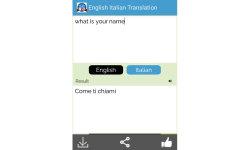 English Italian language screenshot 2/6