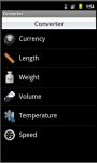 Unit Converter for Android screenshot 1/6