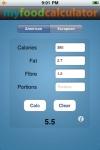 My Food Calculator screenshot 1/1