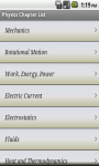 Physics Formula App screenshot 2/3