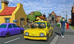Crazy Talking Taxi Driver game screenshot 2/4