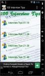 100 Interview Tips 2014 screenshot 1/3