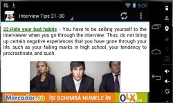 100 Interview Tips 2014 screenshot 2/3