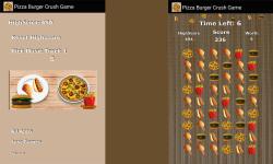 Pizza Burger Crush Game Free screenshot 1/3